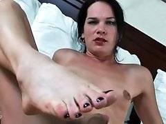 Turned on tranny Gina Hart is teasing her craving boner.