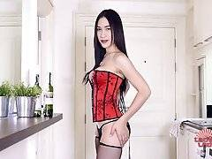 Patty is a gorgeous Asian tgirl with an amazing body, big boobs, fantastic ass and a nice big hard cock! Watch this hottie stroking her hard cock!