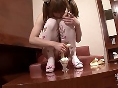 This cute doll is striking some cute poses with her sexy pair of lingerie. With cute budding tits, nice cock and very fuckable ass, Hiromi shares one